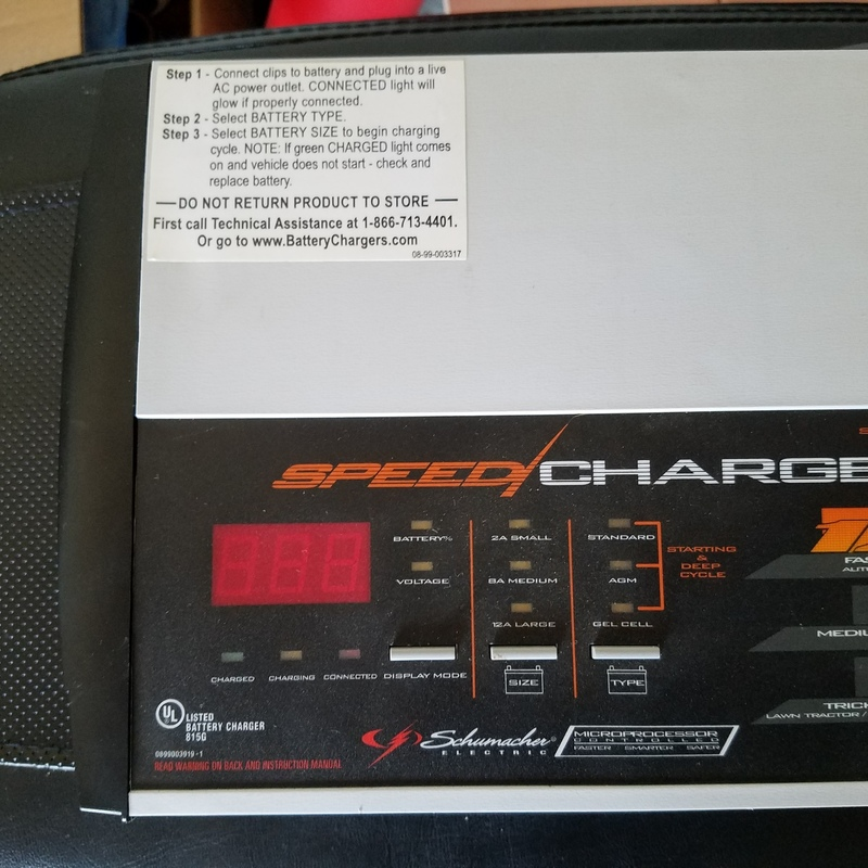 Medium car battery charger