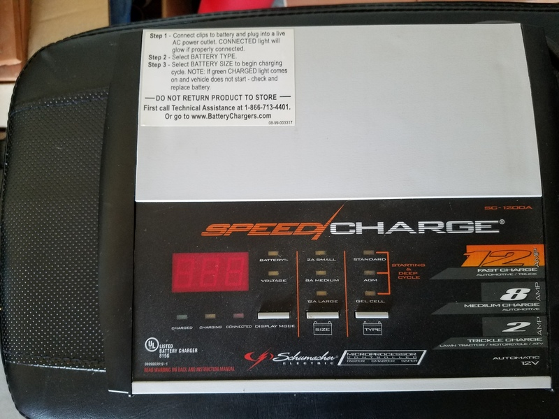 Medium wide car battery charger
